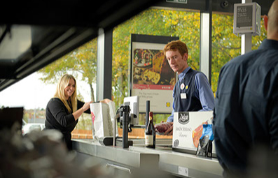Lidl staff and customers